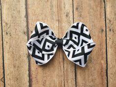 Large Black and White birds eye double loop Bow headband | feather | vintage | eligant | tribal | stripe by ShopSassyBabes on Etsy https://www.etsy.com/listing/264114474/large-black-and-white-birds-eye-double