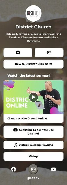 Helping followers of Jesus to Know God, Find Freedom, Discover Purpose, and Make a Difference #nonprofit #church #bio #pinterestinspired #community Online Church, Community Organizing, Knowing God, Non Profit, Worship, Purpose, Freedom, Landing