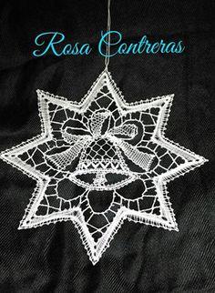 Crochet Motif, Crochet Stitches, Bobbin Lace Patterns, Lace Heart, Lace Jewelry, Lace Making, Christmas Deco, Tenerife, Yarn Crafts