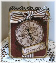 Card - great for my clock stamps.  Time to celebrate!