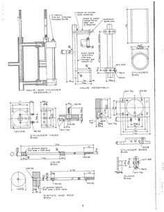 33 Best Steam Engine Plans and Drawings images in 2019