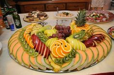 Beautiful fruit platter display