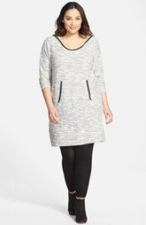 DKNY Jeans Textured Hoodie Dress (Plus Size)