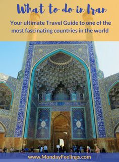 A travel guide to everything you have to do in Iran. In here we describe all the sights and activities at the main historical cities.