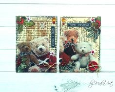 """ATC set """"Vintage Christmas"""" Môjposledný tohtoročnýpríspevokpre ScrapArt.cz   prináša inšpiráciu v podobe vianočného ATC setu vo vintage štýle, ktorý vznikol zrecyk..."""
