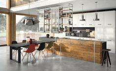 La cucina componibile Brera 76 è in vero legno massello, cucina ...