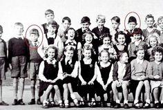 La foto di classe del 9 gennaio del 1951.Mick Jagger (a sinistra) e Keith Richards (a destra) all'età di 7 anni(Swns/Kika Press)