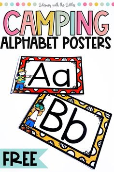 Are you doing a camping theme for your classroom? Are you doing a camping theme day and want to add some fun letter recognition activities? Then snag this free printable for your classroom. Classroom Posters, Classroom Themes, Classroom Activities, Preschool Camping Theme, Classroom Freebies, Camping With Toddlers, Writing Lines, Alphabet Activities, Alphabet Worksheets