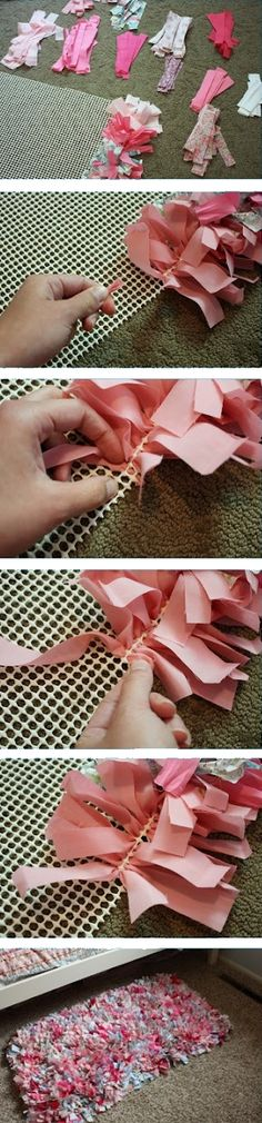 Rag rug.. i want to do this!