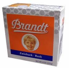 zwieback (rusk) - mom's answer for nausea, stomach ache & vomiting.