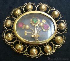 Bajo de rosario en oro y pedreria Mallorquin siglo XVII-XIX - Foto 1