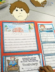 Foldable lapbook for Alexander and the Terrible, Horrible, No Good, Very Bad Day