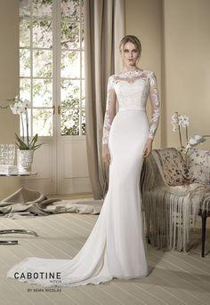 Vestidos de noiva com manga comprida: Cabotine na Bridal's Boudoir