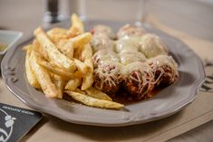 Meatballs from veal meat with Naxos Graviera (grated) and Naxos Potato (puree or fried). Veal Meat, Potato Puree, Raw Materials, Fries, Food Photography, Bacon, Potatoes, Restaurant