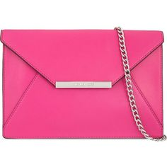 Lana envelope clutch ($340) ❤ liked on Polyvore featuring bags, handbags, clutches, accessories, raspberry, envelope clutch bag, genuine leather handbags, leather clutches, pink purse and envelope clutch