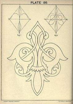 see site for many more - 1895 - Cusack's freehand ornament. A text book with chapters on elements, principles, and methods of freehand drawing, for the general use of teachers and students . by Armstrong, Charles Mehr Zentangle, Pattern Art, Pattern Design, Stencil Patterns, Diy Planner, Molduras Vintage, Stencils, Teacher Ornaments, Ornament Drawing