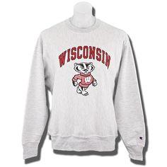 Champion Crew Neck WI Sweatshirt (Gray)