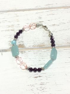 Pastel Bracelet - Beaded Bracelet - Summer Bracelet - BoHo - Asymmetrical Bracelet - Handmade - Gift for Her - Jewelry - Birthday Gift by LemonBasket on Etsy https://www.etsy.com/uk/listing/519986720/pastel-bracelet-beaded-bracelet-summer