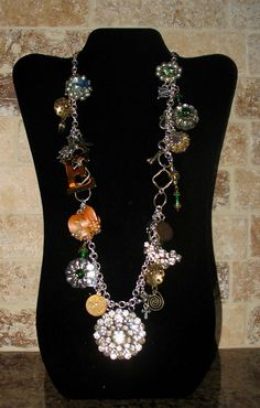 Vintage jewelry! My sister and I made one of these necklaces like this for a customer using her own many years of collected charms.