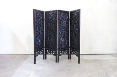 Carved Chinese Rosewood Folding Screen by TheParsonsPleasures, $675.00