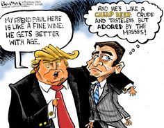 Political cartoon U.S. Donald Trump Paul Ryan comments