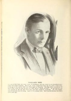 !917 Wallace Reid drawing with a short bio from Picture play magazine