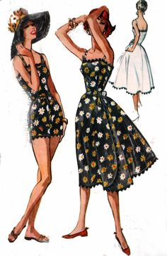 Vintage 50s McCalls 4601 playsuit... perhaps I could replicate with jumbo ric rac