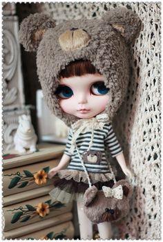 Blythe Bear Outfit for Blythe by AngelGardenByChilly.