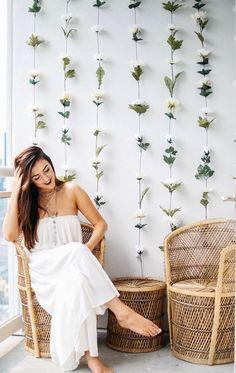 DIY Instagram Flower Wall