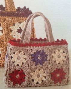 """New Cheap Bags. The location where building and construction meets style, beaded crochet is the act of using beads to decorate crocheted products. """"Crochet"""" is derived fro Free Crochet Bag, Crochet Purse Patterns, Crochet Shell Stitch, Crochet Wool, Crochet Gifts, Crochet Motif, Crochet Designs, Crochet Bags, Crochet Handbags"""