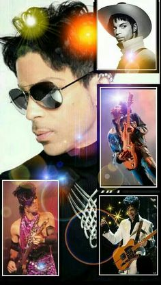 A collage of Prince