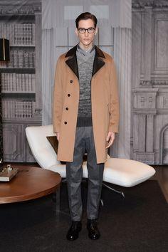 Camel and Leather from Trussardi #menswear #mensfashion #mensstyle #MFW #fashion #GQ #Trussardi