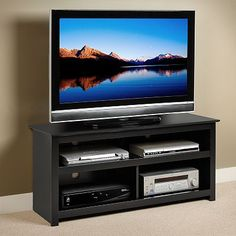 Prepac Vasari TV Stand Tv Stand Showcase, Lcd Tv Stand, Cool Tv Stands, Drawer Dividers, Cabinet Handles, Storage Compartments, Entertainment Center, Framing Materials, Tvs