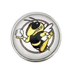 #5305 Baseball Yellow Jacket-Bee Snap Charm 20mm for Snap Jewelry
