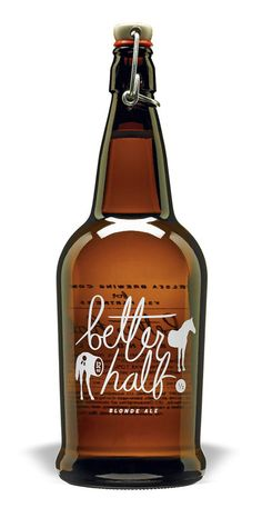 Better Half Blonde Ale / great beer collaboration from Chelsea Brewing Company VSA NY. Cool Packaging, Beverage Packaging, Bottle Packaging, Brand Packaging, Packaging Design, Coffee Packaging, Design Da Garrafa, Beer Label Design, Blonde Ale
