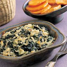 Rice and spinach gratin - it looked delicious until it was covered in broken glass