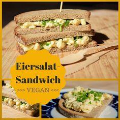 Für Picknick, Uni oder Büro: Eiersalat-Sandwiches  #vegan #vegetarisch #whatveganseat #rezepte #veganerezepte #frühstück #togo #broodjes #foodblog #veganblog