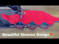 Beautiful Sleeves (baju) design for kurti and blouse for women Chudidhar Neck Designs, Salwar Neck Designs, Kurta Neck Design, Blouse Back Neck Designs, Fancy Blouse Designs, Hand Designs, Sleeve Designs, Kurti Sleeves Design, Sleeves Designs For Dresses