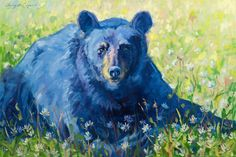 Quality Control, by Sonja Caywood Get this beautiful black bear giclée print for your wall at Rimrock Art & Frame!