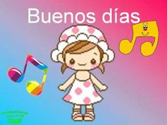 Perfect for a greeting activity Elementary Spanish, Spanish Classroom, Baby Songs, Kids Songs, Kindergarten Activities, Preschool, Learning Spanish For Kids, Spanish Songs, Nursery Rhymes