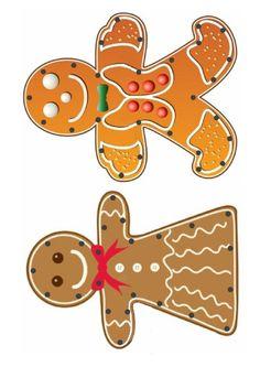 Gabarit - Bonhommes en pain d'épices