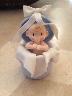 NEW Baby Boy Cold Porcelain Set of 12 by LazoDesigns on Etsy, $41,00