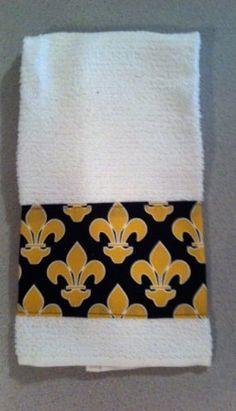 Fleur de lis Kitchen Towel by SewAdorableHandmade on Etsy, $5.00