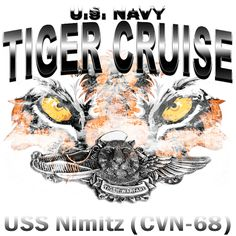 Navy Tiger Cruise USS Nimitz CVN-68 Shirt $19.95