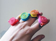 Anello con palloncini, multicolor by Nokike dallo shop Nokike - gioielli & bijoux - anelli - altro - su ulaola.com