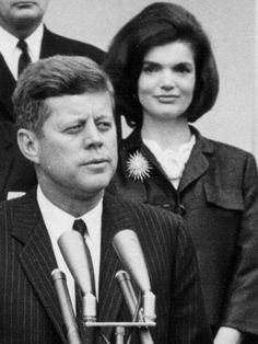 President Kennedy and his wife.