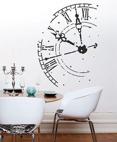 1000 ideas about wandtattoo uhr on pinterest wall tattoo wohnzimmer uhren and deko f r. Black Bedroom Furniture Sets. Home Design Ideas