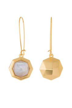 You'll love this switchable mixable mini collection. One side showcases semi-precious Mother of Pearl encapsulated under glass and the other side features a faceted golden dome. Twofold Drop Earrings by Spartina 449. Accessories - Jewelry - Earrings Alabama