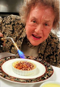 """""""I think every woman should have a blowtourch,"""" said the game-changing chef, Julia Child. Cooking Torch, Cooking Ham, Cooking Fish, Julia Child Quotes, Tv Chefs, Good Food, Yummy Food, Learn To Cook, Bon Appetit"""