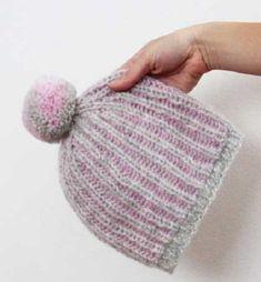 Čepice se vzorem brioche – PLETENÍ – NÁVODY Drops Design, Knitted Hats, Free Pattern, Coin Purse, Knitting, Lace, Creative, Blog, Montreal